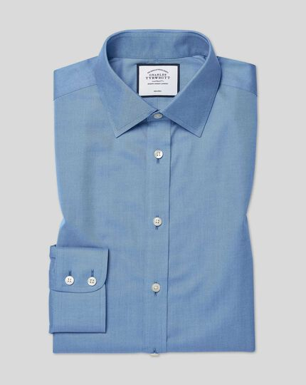 Classic Collar Non-Iron Twill Shirt - Blue
