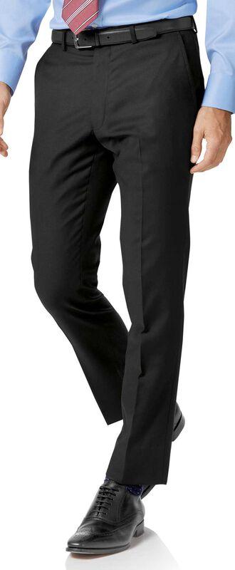 Pantalon de costume business noir en twill slim fit