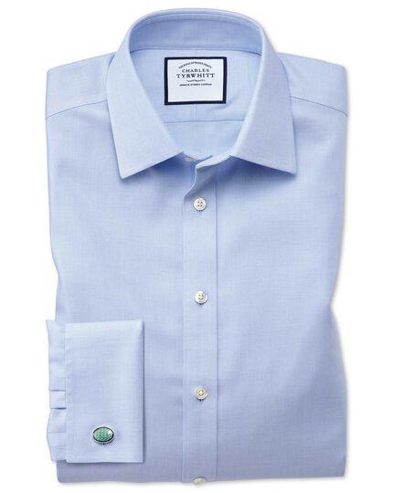 Non-Iron Step Weave Shirt - Sky Blue