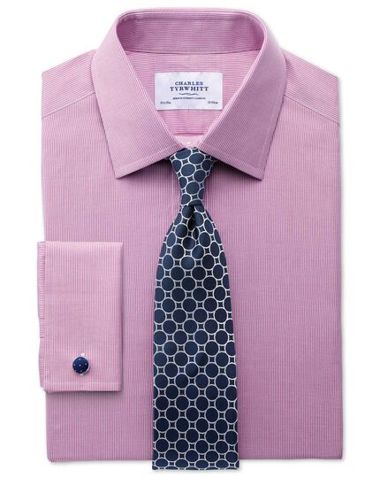 Chemise magenta en oxford slim fit