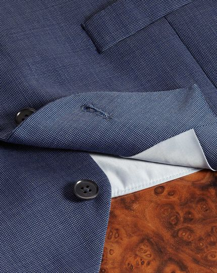 Verstellbare Anzugweste aus Stepweave-Gewebe in Hellblau