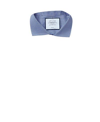 Extra slim fit cutaway non-iron puppytooth royal blue shirt