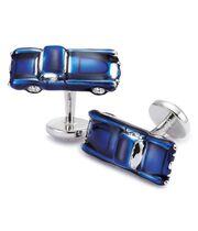 Boutons de manchette bleu marine voitures de collection
