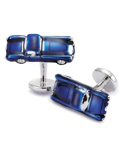 Navy vintage car cufflinks