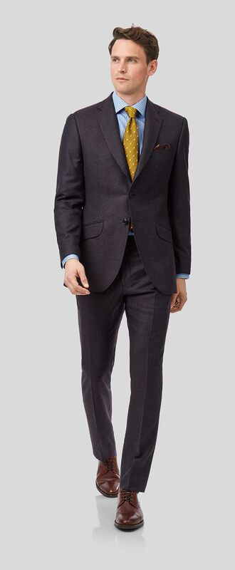 Aubergine slim fit Italian suit