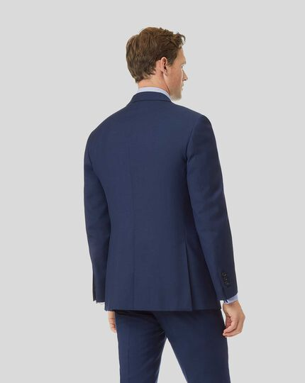 Herringbone Suit Jacket - Royal Blue