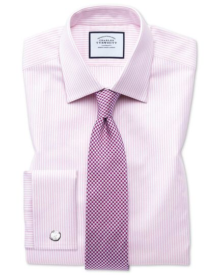 Purple silk stain resistant puppytooth classic tie