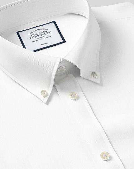 Button-Down Non-Iron Twill Shirt  - White