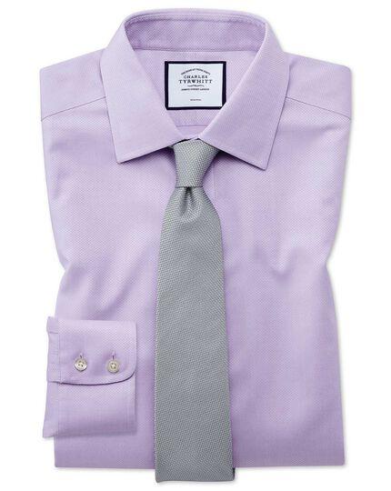 Non-Iron Triangle Weave Shirt - Lilac
