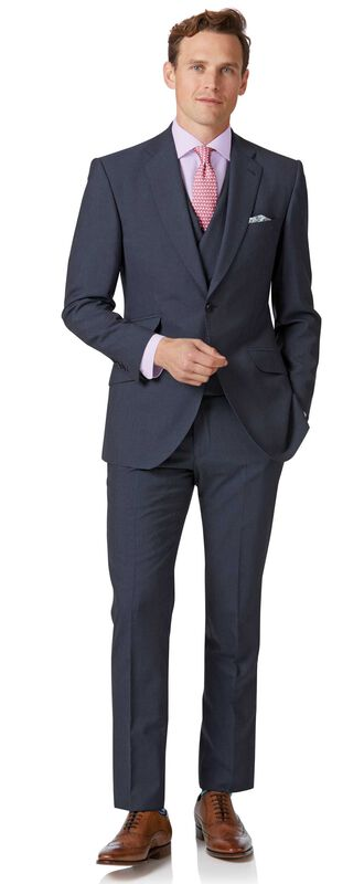Blue Panama slim fit British suit