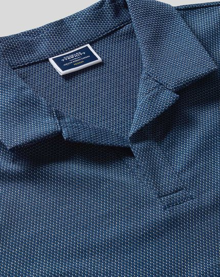Tyrwhitt Cool Resort Collar Polo - Blue