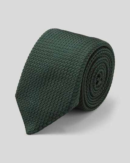 Silk Grenadine Italian Luxury Tie - Dark Green