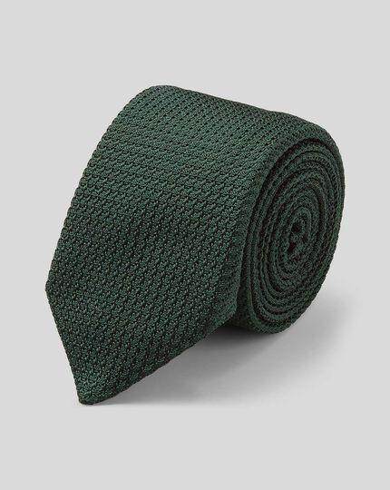 Silk Grenadine Italian Luxury Tie - Dark Green