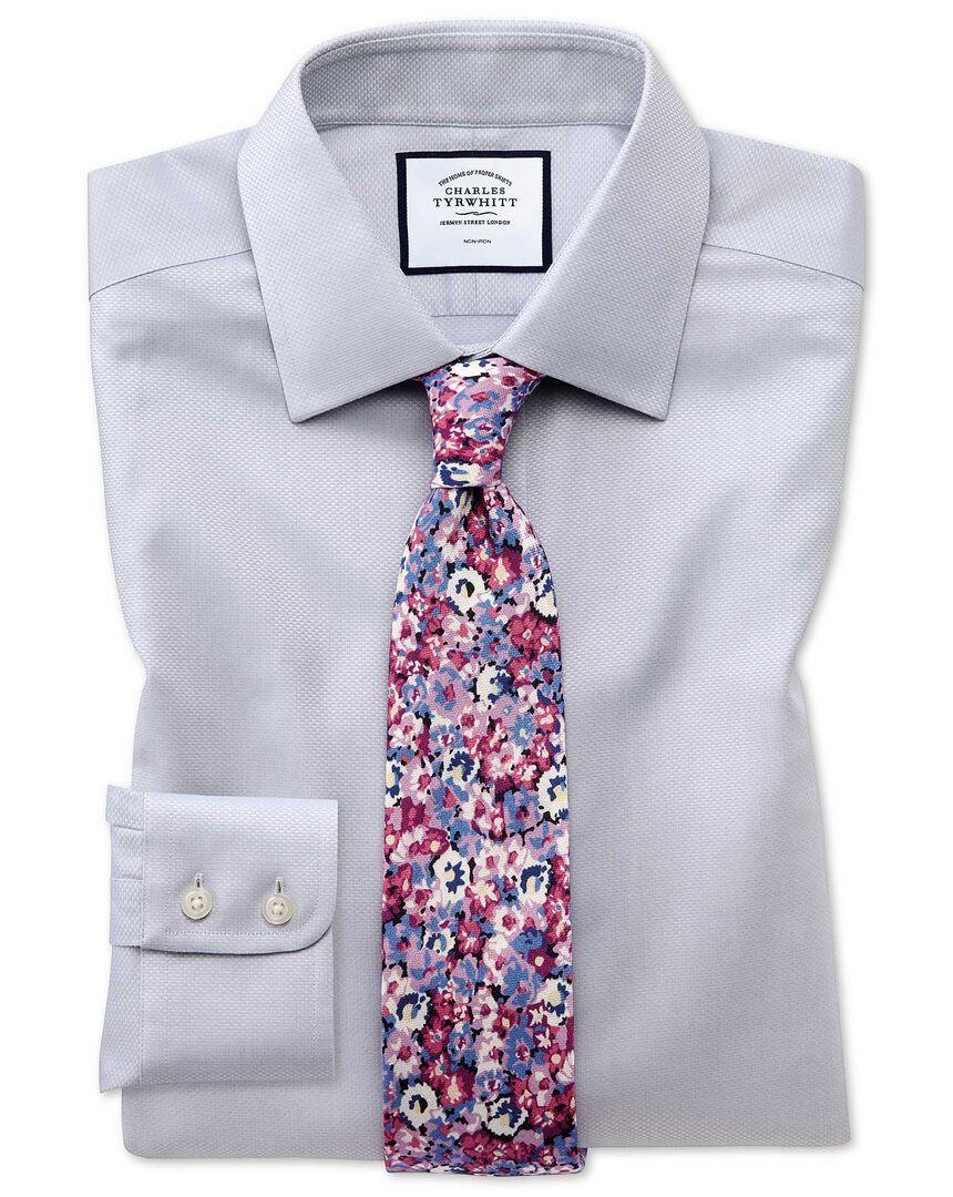 Non-Iron Triangle Weave Shirt - Grey