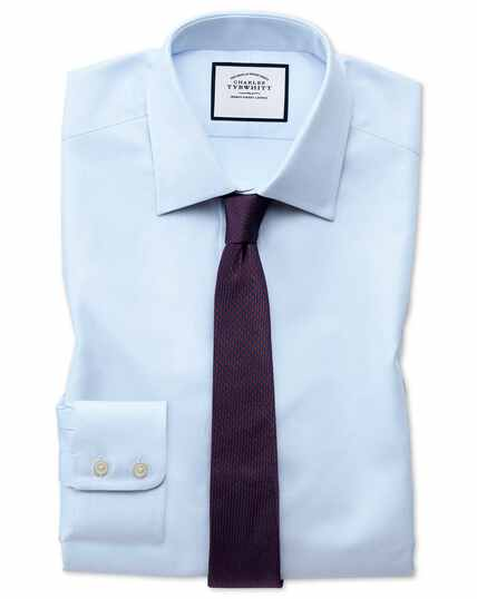 Extra slim fit Egyptian cotton royal Oxford sky blue shirt