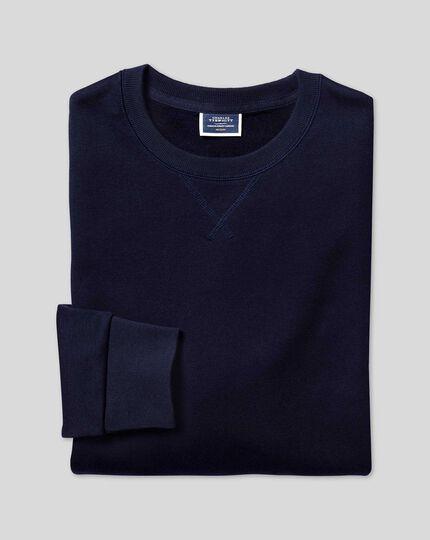 Jersey Crew Neck Sweater - Navy