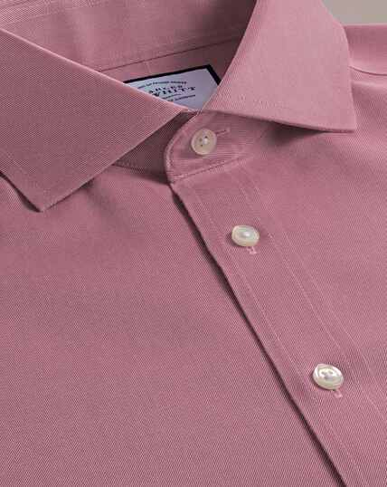 Non-Iron Twill Cutaway Collar Shirt - Red