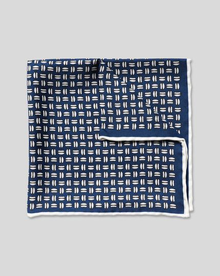 England Rugby Rugby Ball Pocket Square - Blue