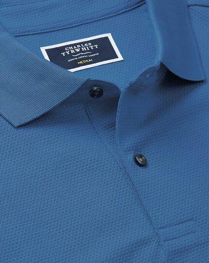 Cobalt blue Tyrwhitt Cool jacquard polo