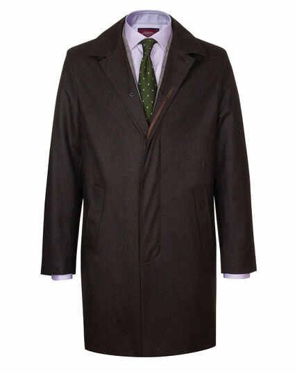 Brown Italian wool raincoat
