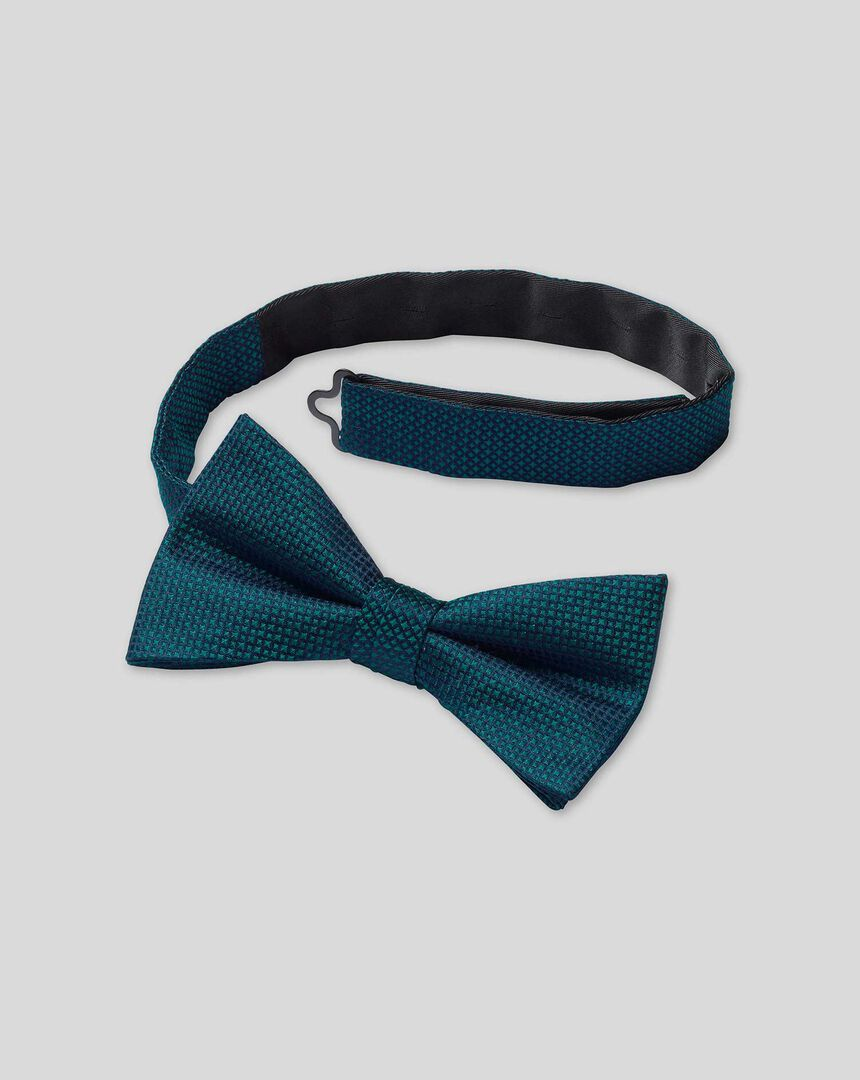 Silk Ready-Tied Bow Tie - Teal