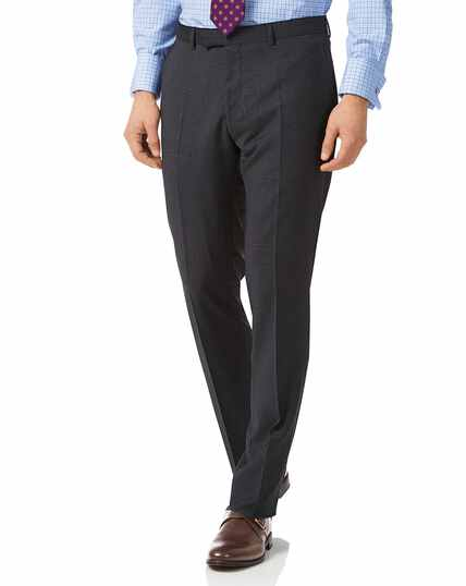 Grey check slim fit Italian suit pants