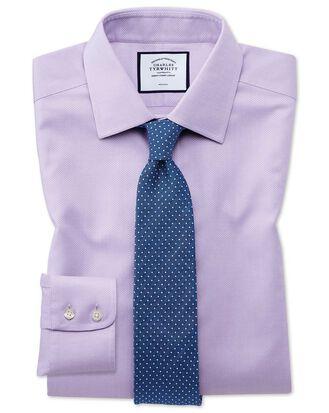 Bügelfreies Extra Slim Fit Hemd aus Triangle Gewebe in Flieder