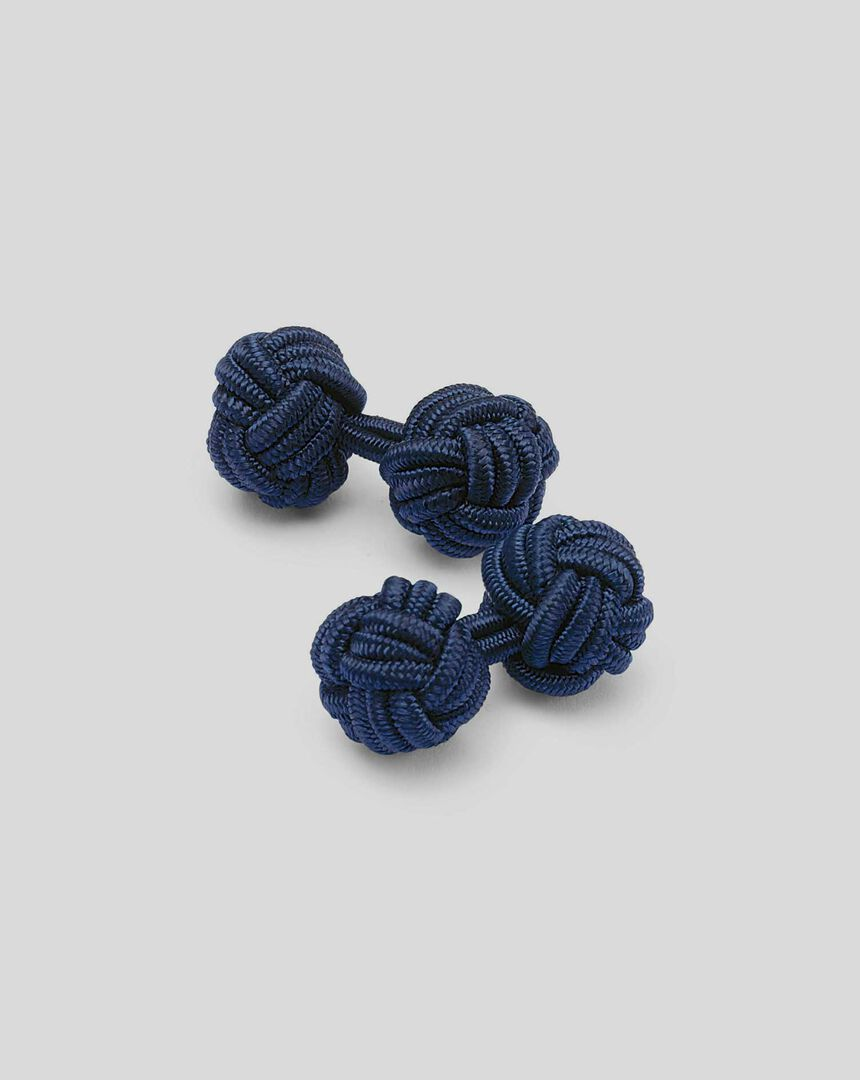 Knot Cufflink - Navy