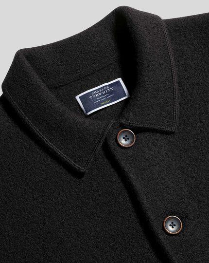 Brushed Wool Jacket - Dark Navy