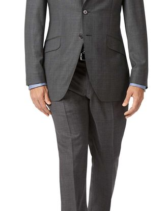 Grey slim fit check Italian Suit