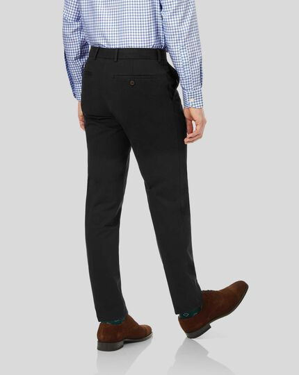 Smart Non-Iron Chinos - Black