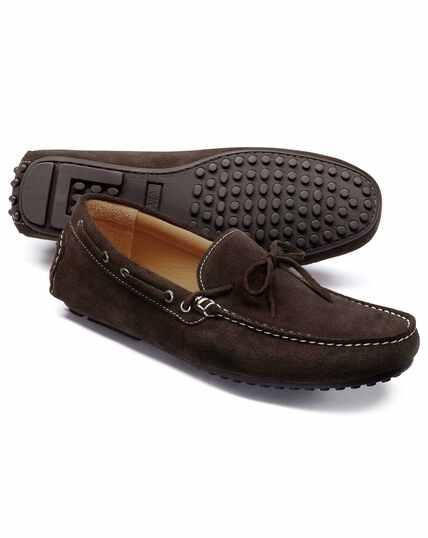 Chocolate driving shoe
