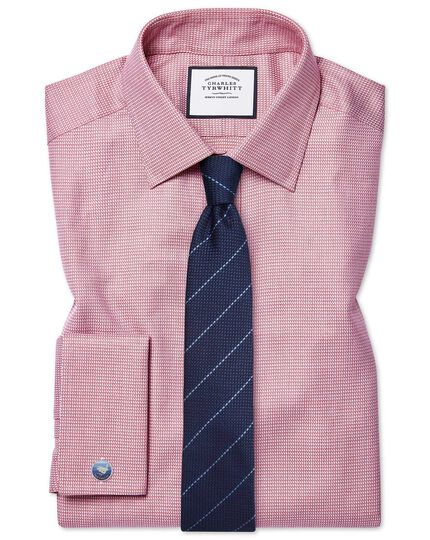 Extra slim fit Egyptian cotton chevron pink shirt