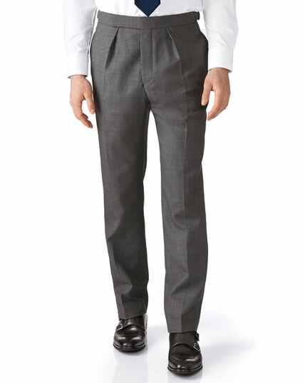 Dark grey classic fit morning suit pants