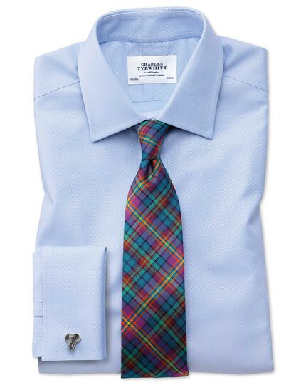 Slim fit Egyptian cotton royal Oxford Sky blue shirt