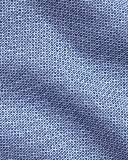 Business-Casual Slim Fit Hemd mit Dreherstruktur in Blau