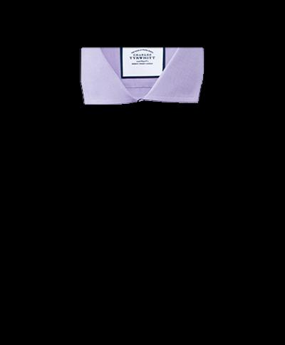 Bügelfreies Extra Slim Fit Popeline-Hemd mit Haifischkragen in Flieder