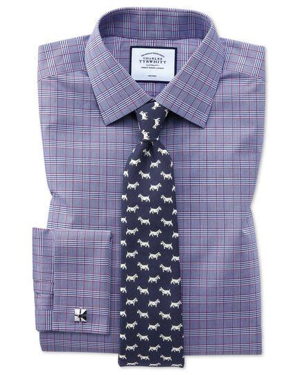Navy wool Scottie dog print English luxury tie