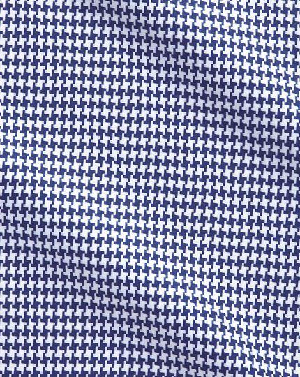 Classic Fit Hemd in Blau mit großem Hahnentritt