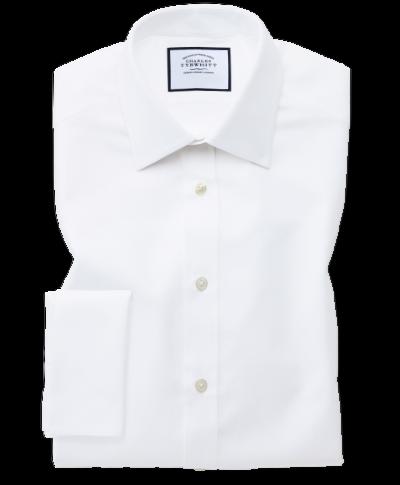 Royal Slim Fit Oxfordhemd aus ägyptische Baumwolle in Weiß