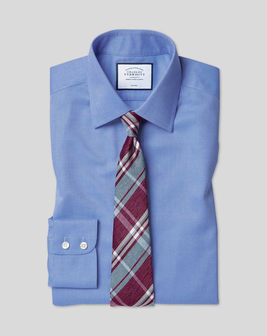 Bügelfreies Royal-Oxfordhemd mit Kent Kragen  - Blau