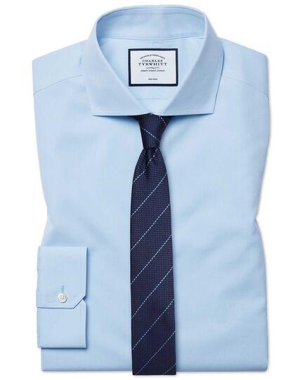 Super slim fit cutaway collar non-iron poplin sky blue shirt