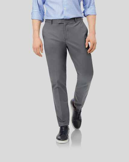 Smart Non-Iron Chinos - Grey