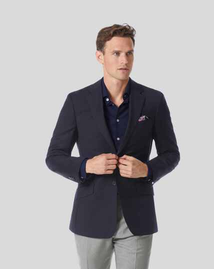 Plain Wool Perfect Blazer – Navy