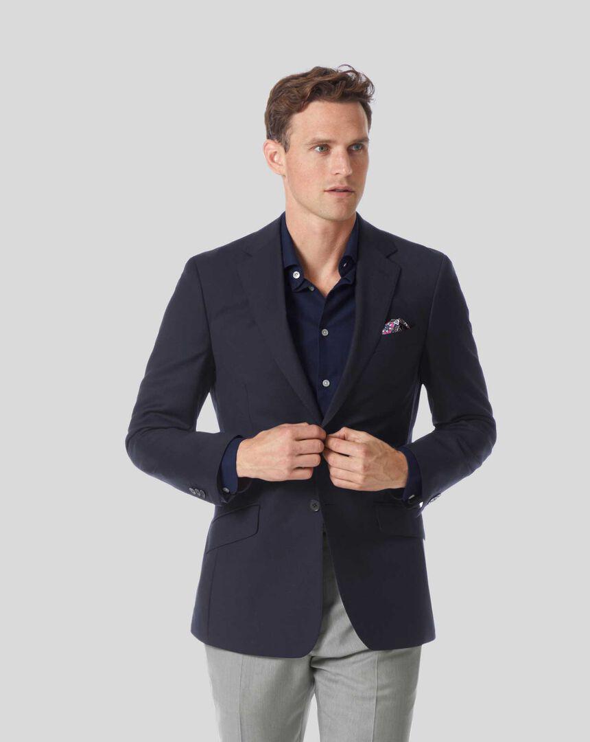 Plain Wool Perfect Blazer – Navy