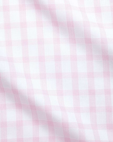 Extra slim fit windowpane check pink shirt