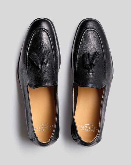 Flexible Tassel Loafer  - Black