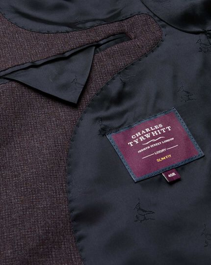 Veste de costume Top Drawer - Aubergine