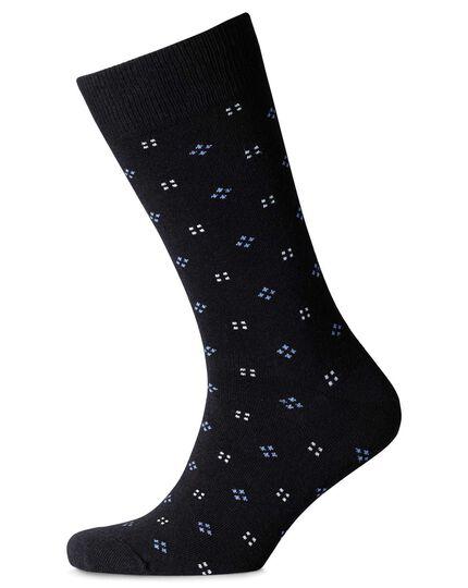 Black multi micro square socks