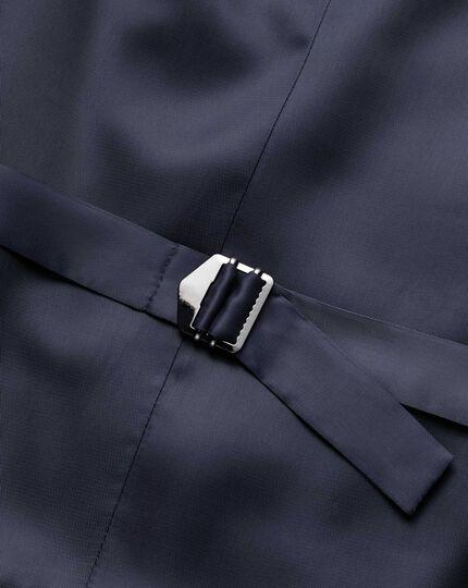 Blue adjustable fit jaspe business suit waistcoat